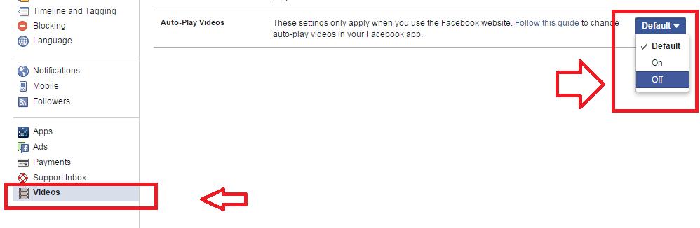 Cách tắt chế độ tự động phát Video trên Facebook