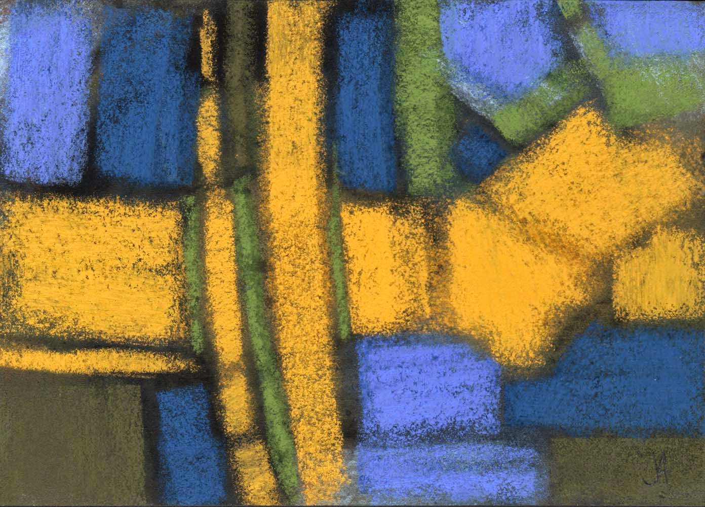 yellow brick road abstract pastel drawing painting artist janine aykens