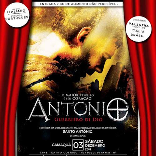 CAMAQUÃ - CIRCUITO DE CINEMA ITALIANO, COM O FILME ANTONIO GUERRIERO DI DIO, NESTE SÁBADO, ÀS 20 H, NO CINE COLISEU