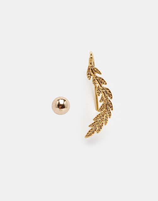 Orelia leaf ear cuff, leaf ear cuff, orelia leaf earring, gold leaf ear climber,