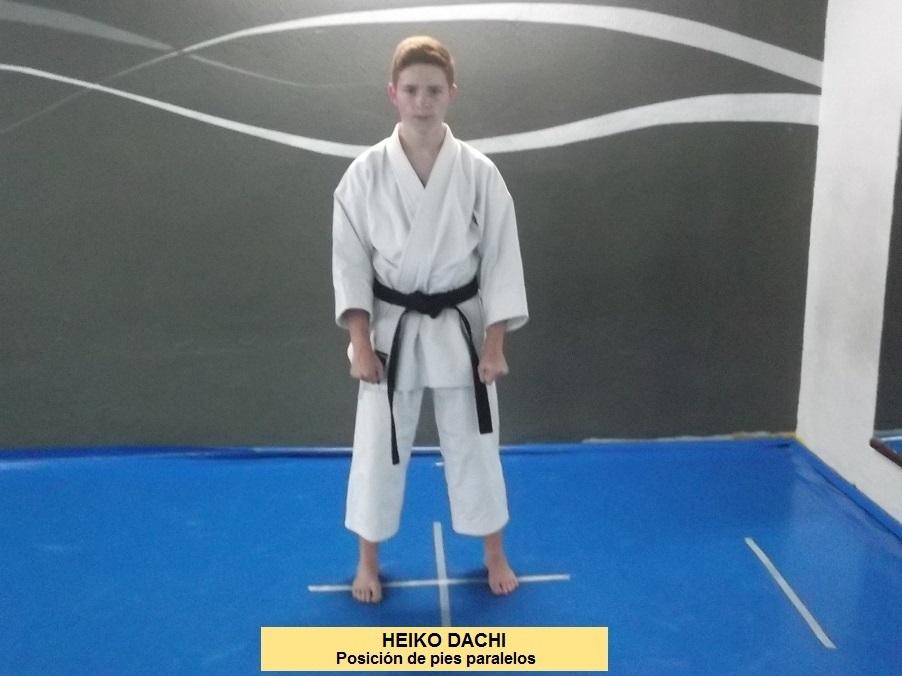 Posiciones de Karate.