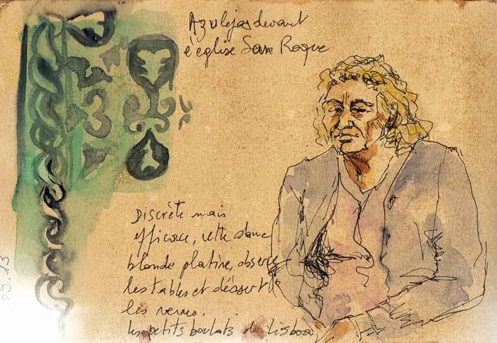 Azulejos et portrait Sao Roque