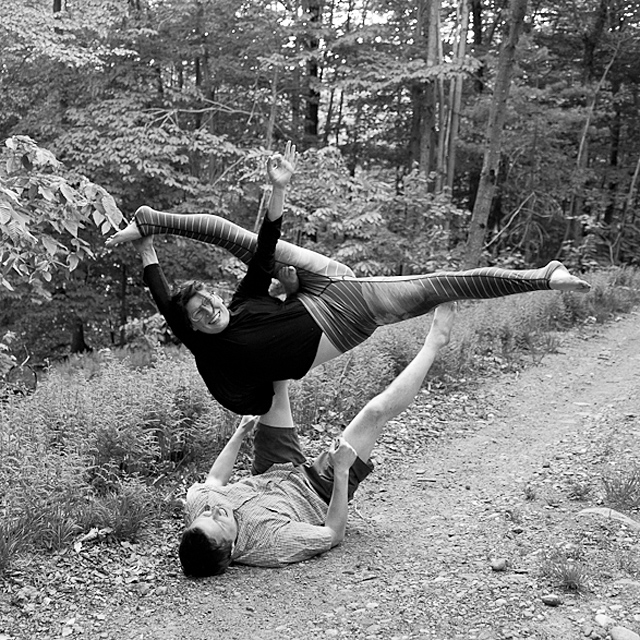Engagement photography session, Marlboro, VT, Vermont, photographer, lifestyle, acroyoga, yoga documentary
