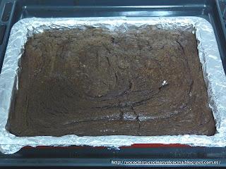 tarta fondant recien sacada del horno