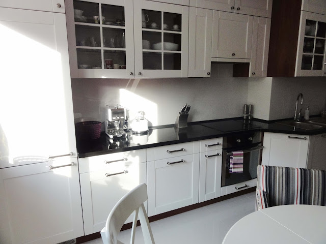 dekorator amator Biała kuchnia  -> Kuchnia Czarno Siwa