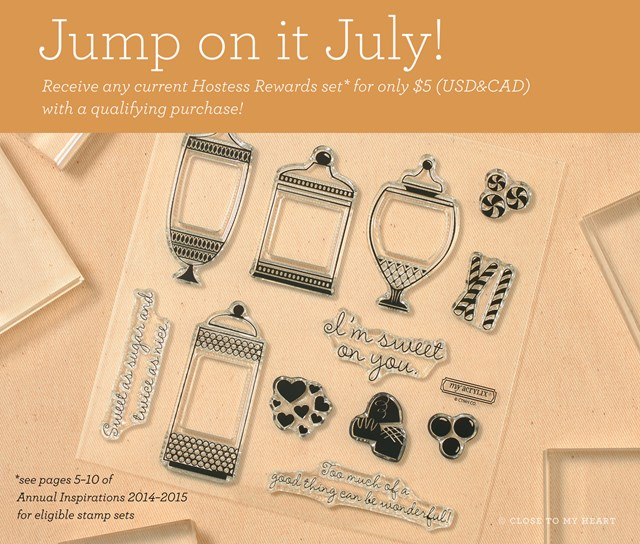 July Special - Choose Hostess Reward Stamp Sets