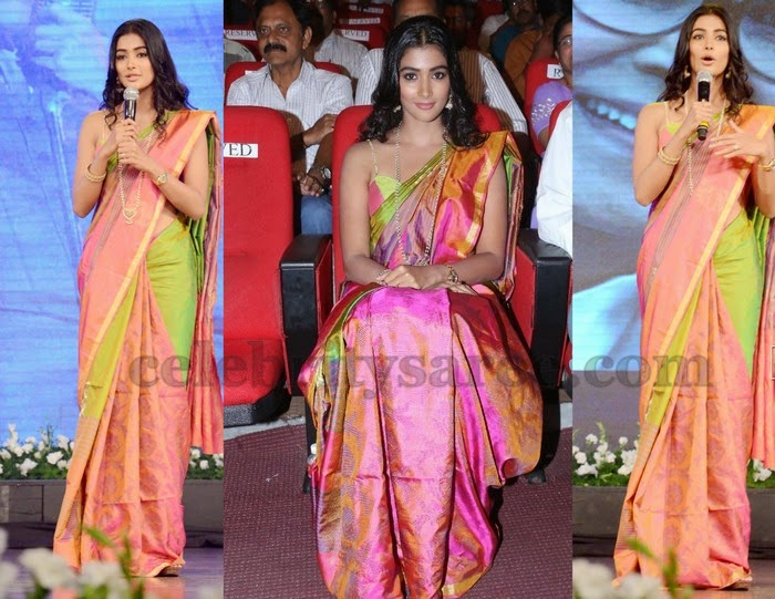 Pooja Hegde Silk Saree