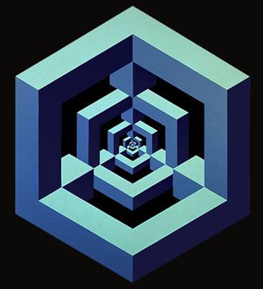 Impossible figures exhibition arts decoration - Figuras geometricas imposibles ...