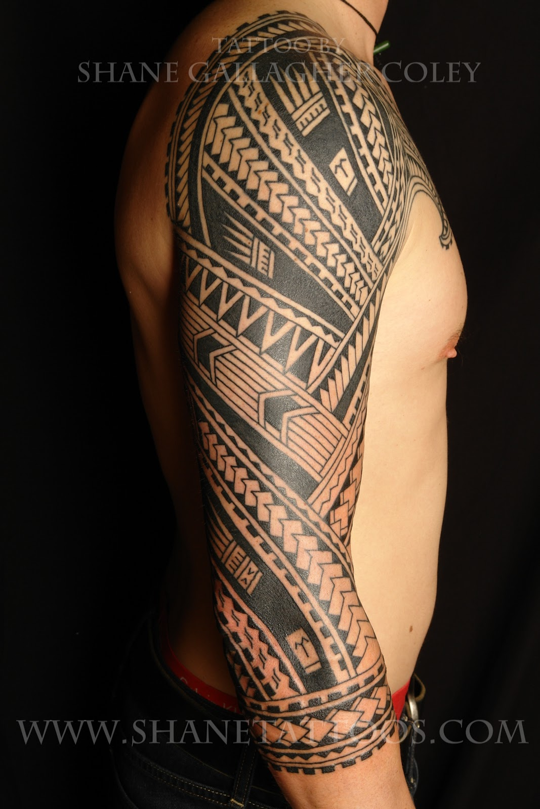 shane tattoos polynesian sleeve tattoo. Black Bedroom Furniture Sets. Home Design Ideas