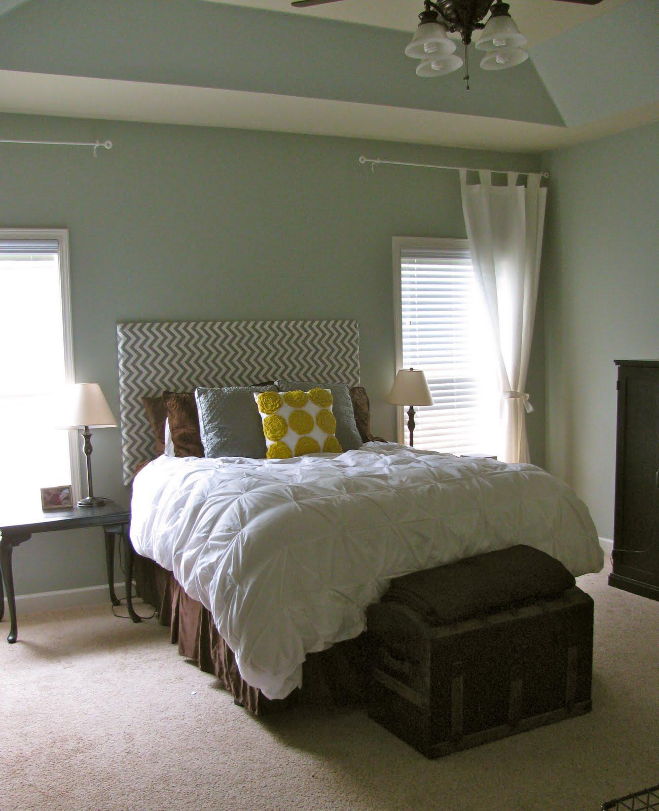 Beautiful Bedroom: Chevron Fabric Headboard - Beautiful