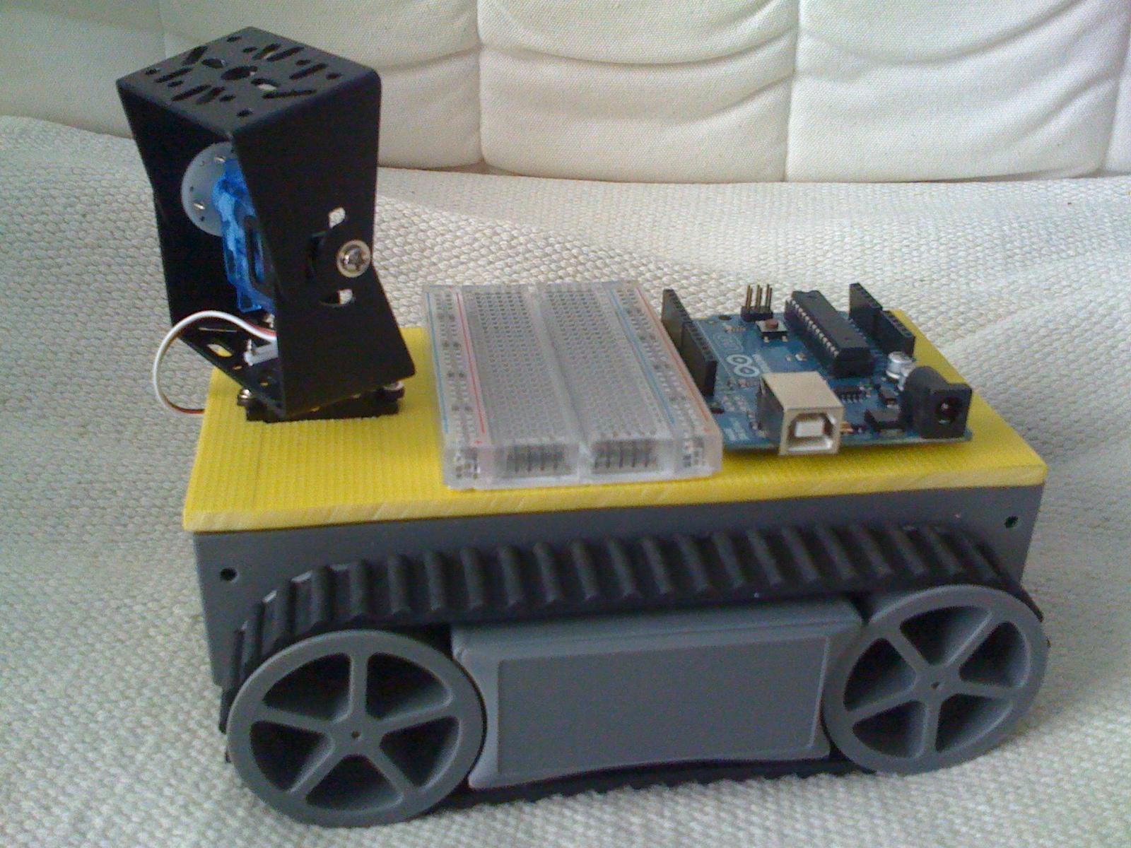 Tcrobotics orugas robot arduino pan tilt cámara