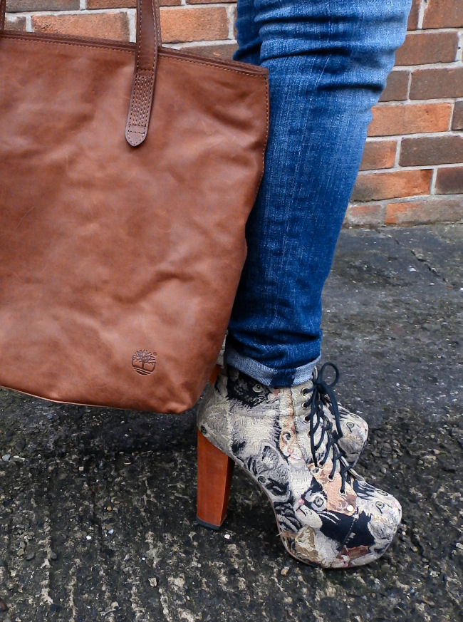 Timberland bag Jeffrey campbell cat lita boots