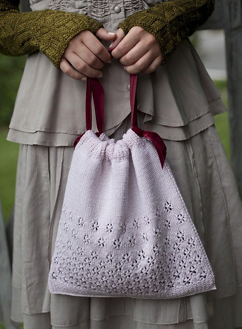 Jane Austen Knitting Patterns : Slate Falls Press: Miss Bennets Beaded Bag~ Jane Austen Knits