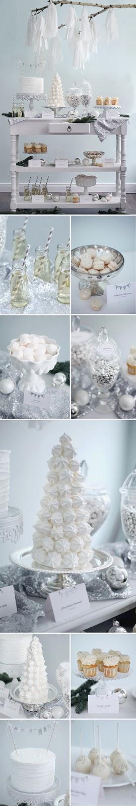 semplicemente perfetto party natale bianco total white tavola