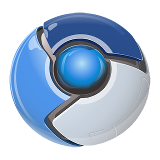 Chrome browser blue