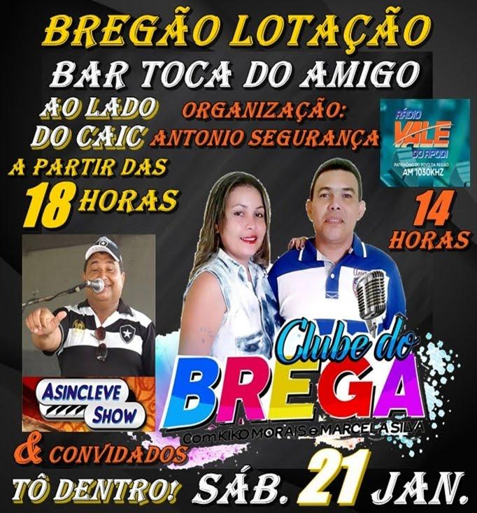 CLUBE DO BREGA NO BAR TOCA DO AMIGO AO LADO DO CAIC - APODI