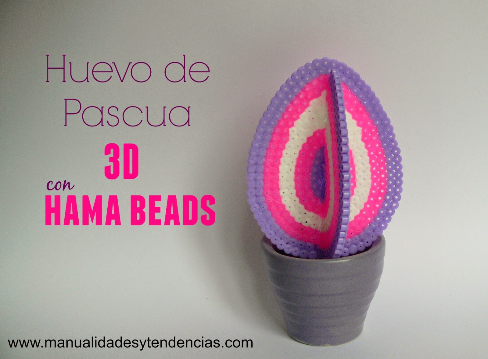 Huevo de Pascua 3D con hama beads
