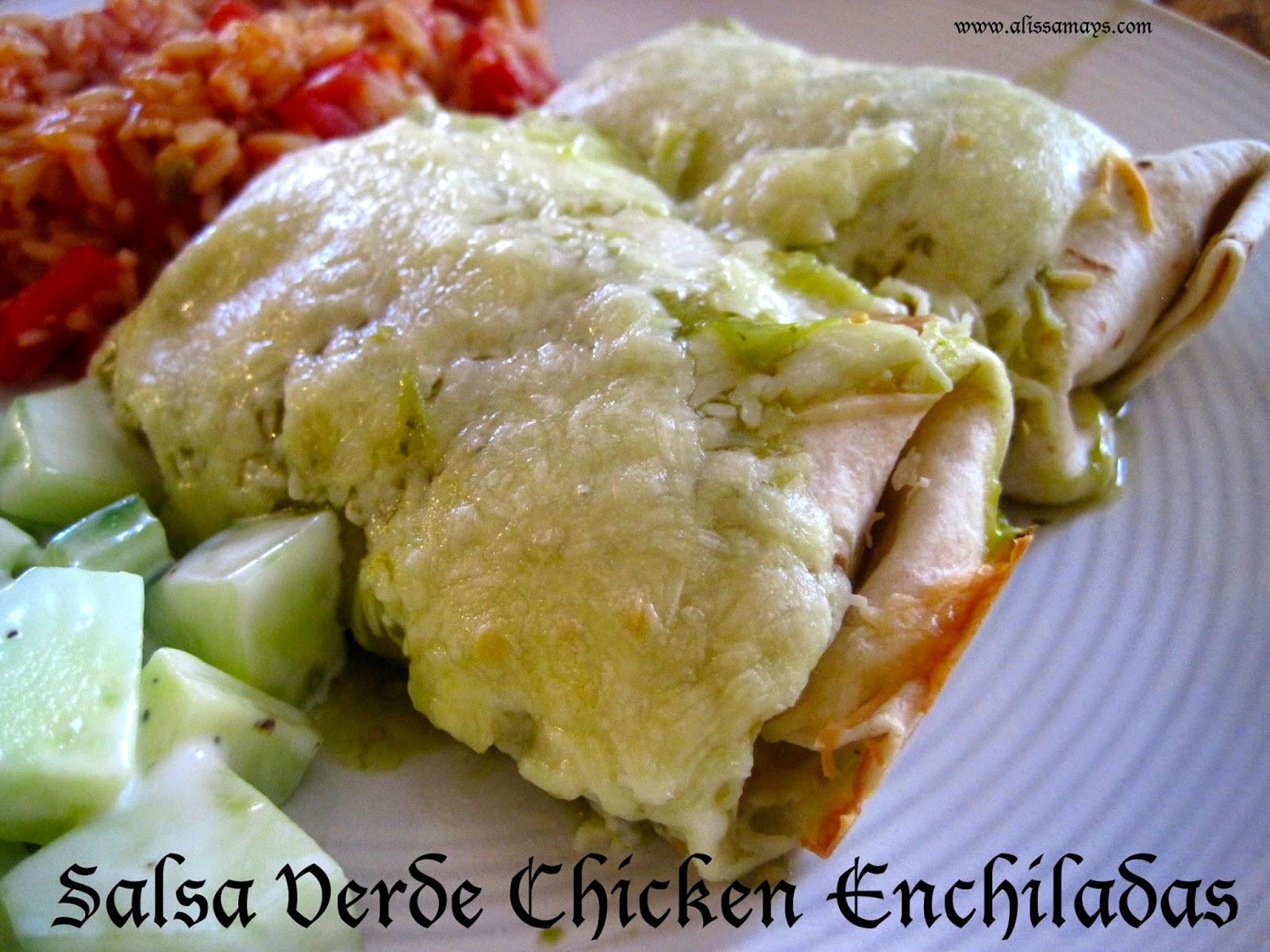 Alissamay's: Salsa Verde Chicken Enchiladas