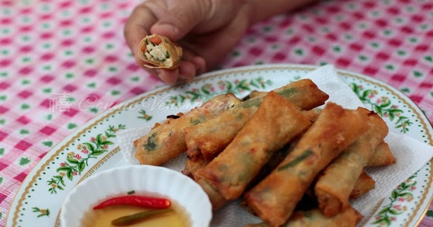 Tinapa, Salted Eggs and Tomato Spring Rolls