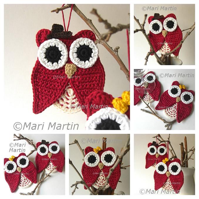 Crochet Coasters Owl