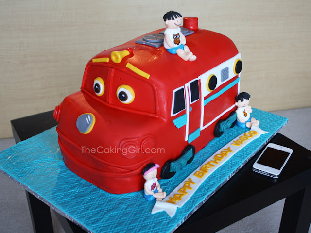 3d sculpted chuggington wilson cake
