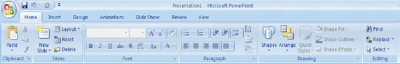 Toolbar, Ribbon, PowerPoint, Microsoft Office