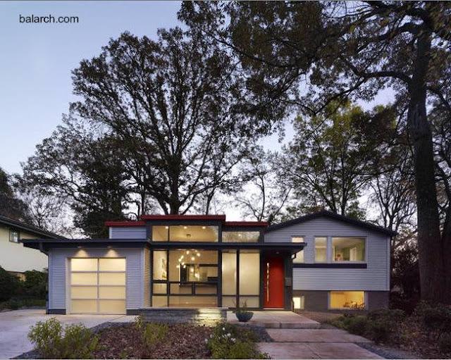 Ampliación y renovación contemporánea de una split house en Estados Unidos