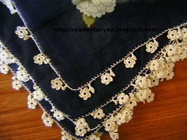 beyaz çiçek oyası