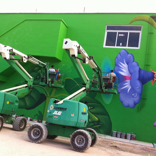 Work In Progress By Ukrainian Street Art Duo Interesni Kazki In Miami, USA. 6