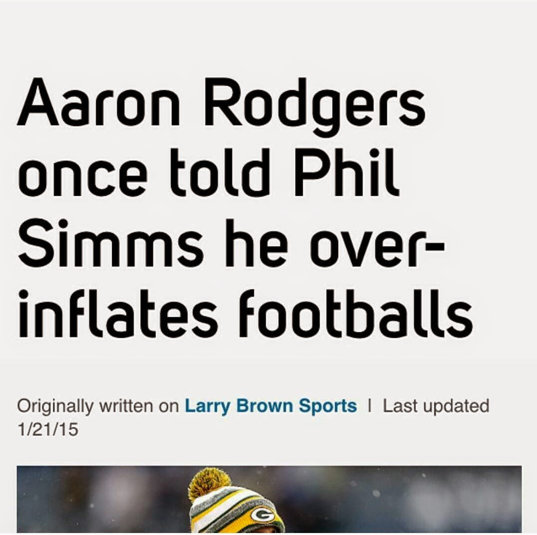 aaron rodgers once told phil simms he over-inflates footballs