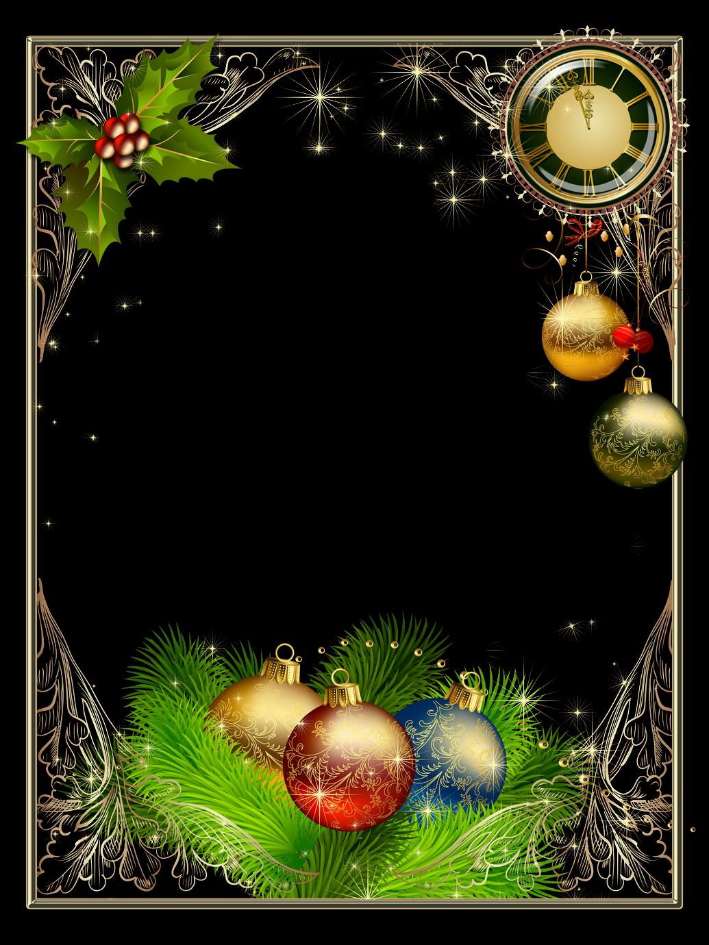Bordes y marcos de fotos de navidad y a o nuevo marcos gratis para fotograf as - Adornos para fotos gratis ...