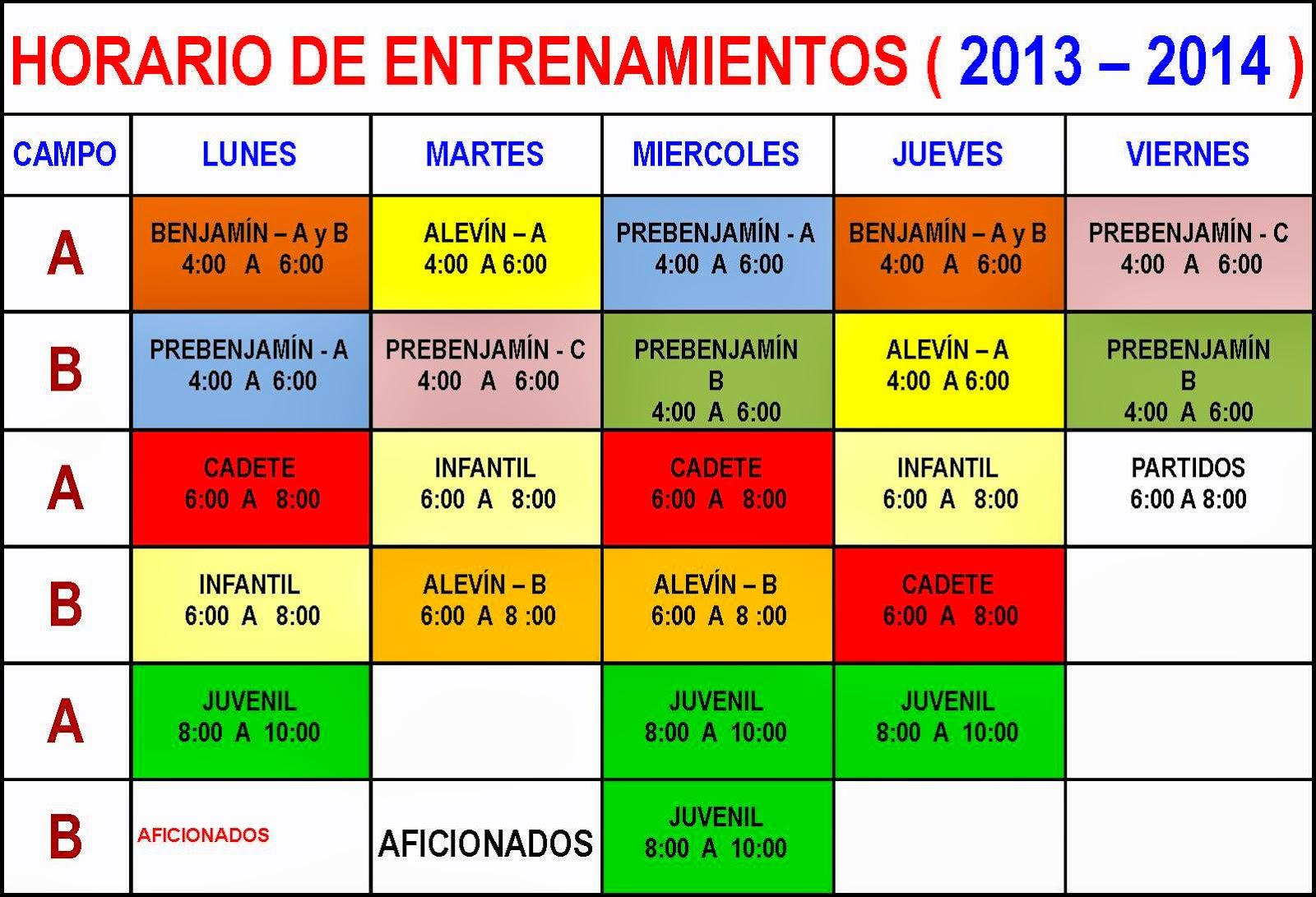 Cdfb Bonares Horario De Entrenamientos Semanal De Cada Equipo