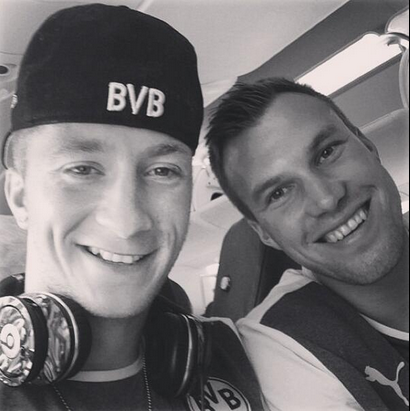Photo of Kevin Großkreutz & his friend football player  Marco Reus - teammate