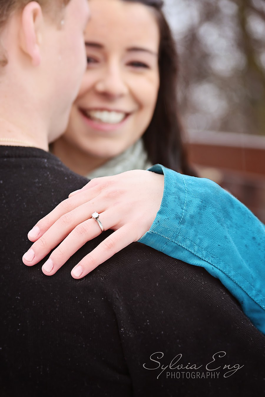 Surprise Proposal and Engagement Photos - Downtown Brampton