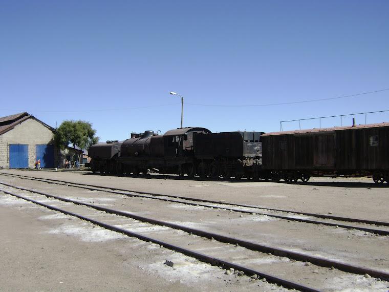 Antigua locomotora de la década 1950 -1960