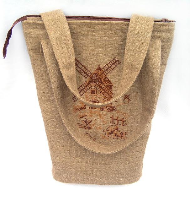 сумка з вишивкою млин