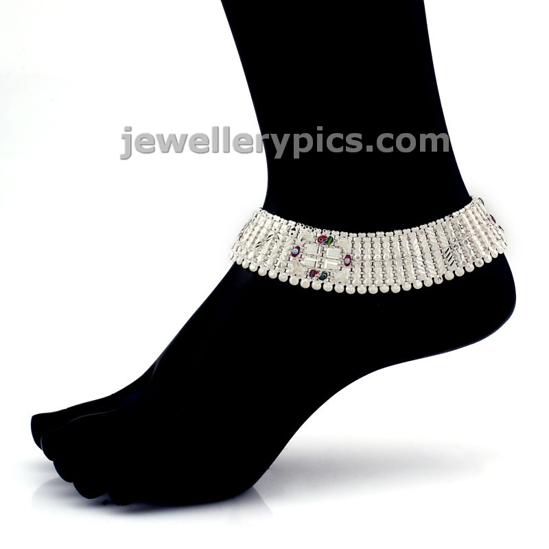 Beautiful Silver Anklets for brides by GRT jewels - Latest ...