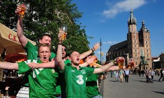 Irish fans sing Home & Away - the best football song ever?