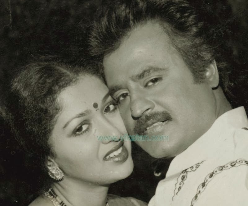 Rajinikanth & Gouthami in 'Panakkaran' (1990) Tamil movie