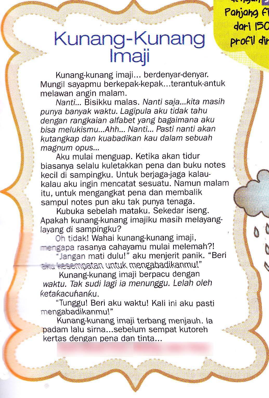 Published Work Fiksi Mini Kunang Kunang Imaji Dimuat Di Story