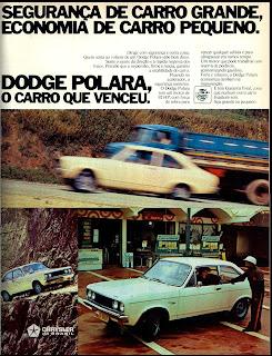 propaganda Dodge Polara - 1976. reclame de carros anos 70. brazilian advertising cars in the 70. os anos 70. história da década de 70; Brazil in the 70s; propaganda carros anos 70; Oswaldo Hernandez;