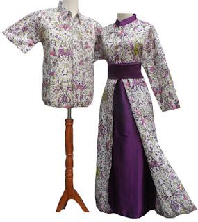 Foto Baju Batik Couple Gamis
