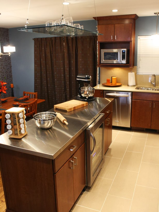 Stainless steel kitchen countertop or sus backsplash for Stainless steel bathroom countertops