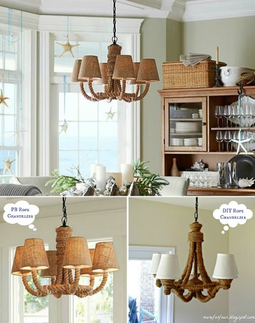 Make Pottery Barn Rope Chandelier