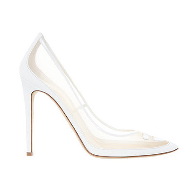 Alejandro Ingelmo white close stiletto pumps with mesh