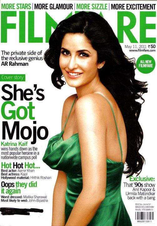 Katrina Kaif  - Katrina Kaif On Filmfare Magazine Cover May 2011 Edition
