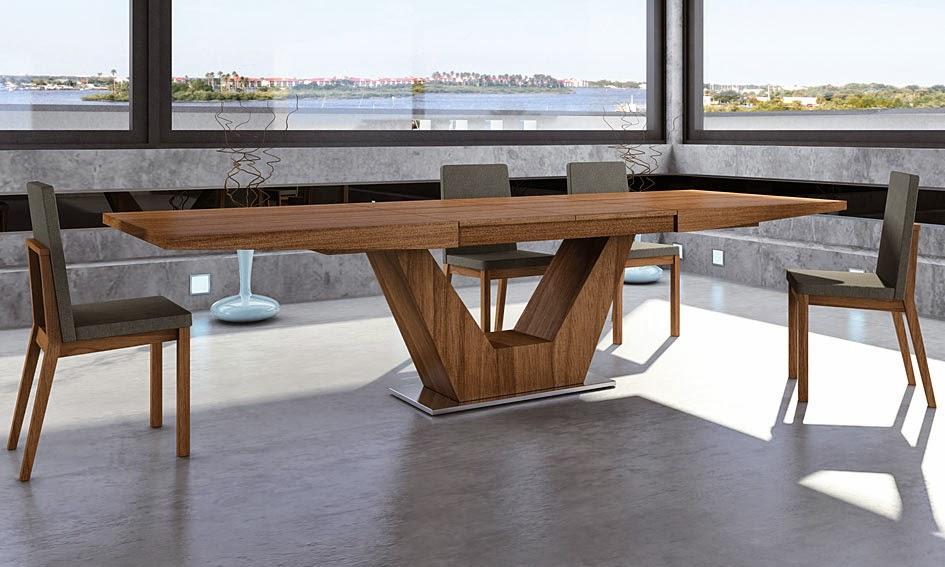 Mesas de comedor 4 mesas de comedor extensibles de dise o - Mesas de comedor de cristal de diseno ...