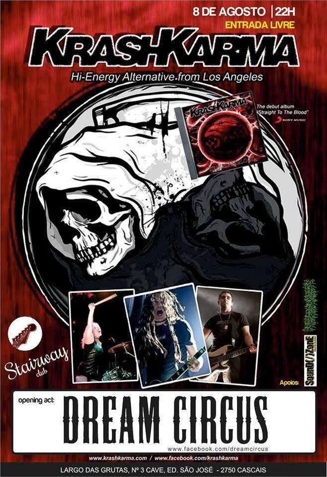 Flyer for KrashKarma + Dream Circus , August 2014