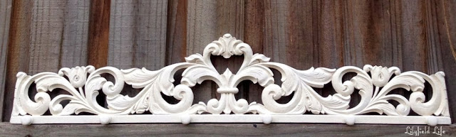 white carved hook rack by Lilyfield Life