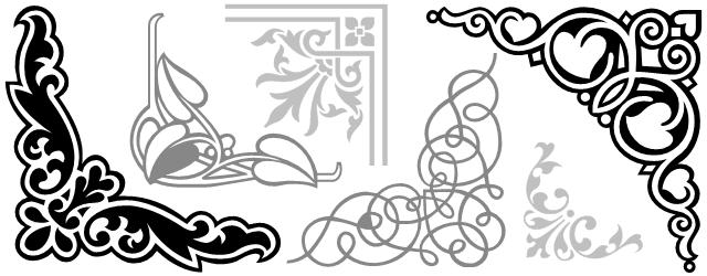Decorative border font shree237
